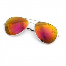 Orange Spectrum Aviator Sunglasses
