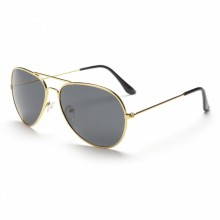 Gold Framed Aviator Sunglasses